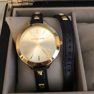 Michael Kors Runway Gold Women's Stud Watch